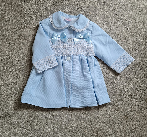 Baby Blue Double Bow Lace Jacket