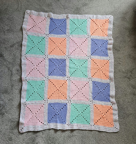 Handmade Colourful Square Blanket