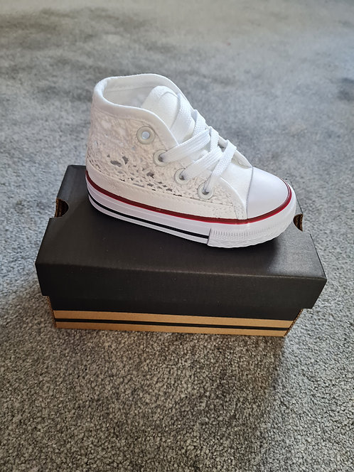 White High Top Lace Trainers
