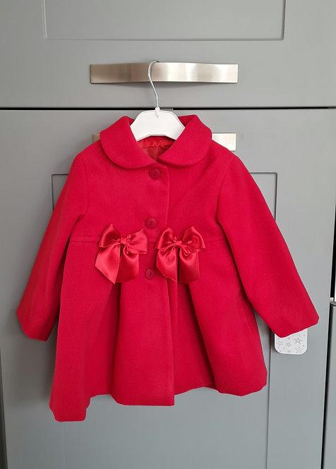 Spanish Red Bow Winter Coat