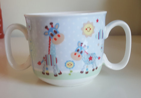 Children's Animal Double Handled Mug