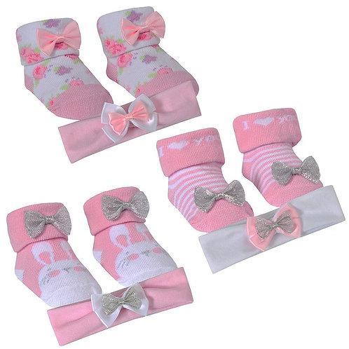 Pretty Headband & Socks Set