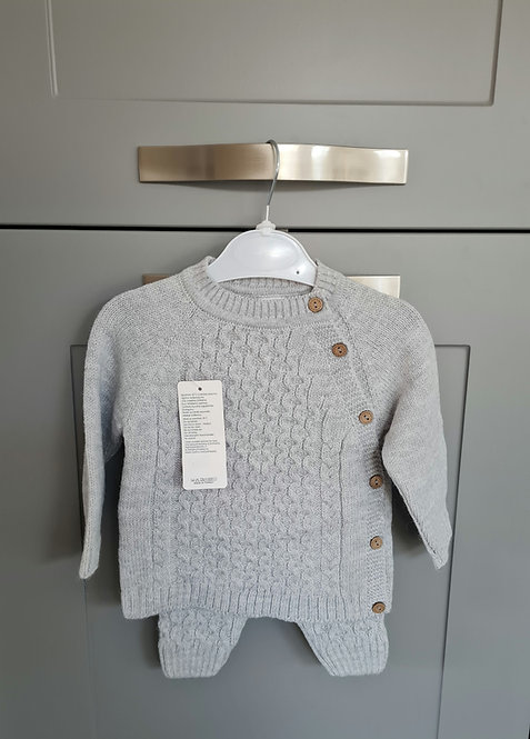 Grey Cable Knitted Set