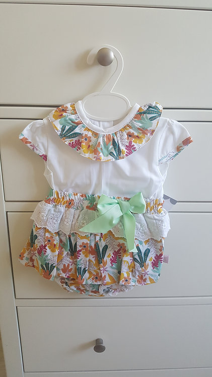 Bright Tropical Bloomer Bow Set