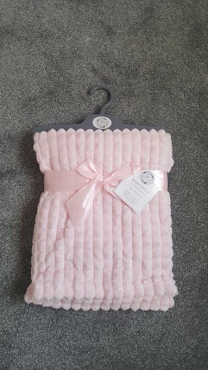 Baby Pink Super Soft Jacquard Blanket