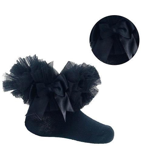 Black Tutu Ankle Socks