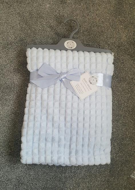 Baby Blue Super Soft Jacquard Blanket