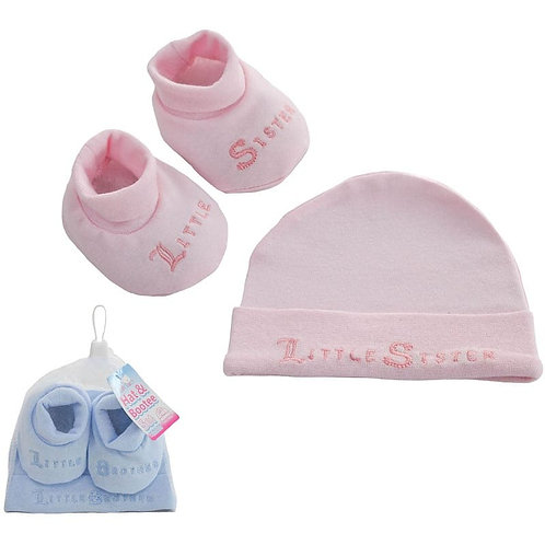 Little Sister / Brother Hat & Bootie Set