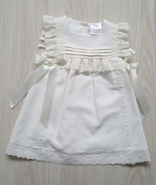 Spanish Cream Lace Ribbon Dress