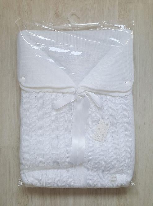 Spanish White Swaddle Ribbon Sac