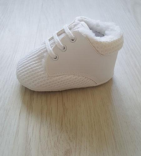 White High Top Pram Shoes