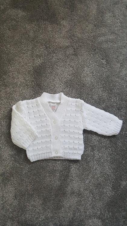 Unisex White Cardigan