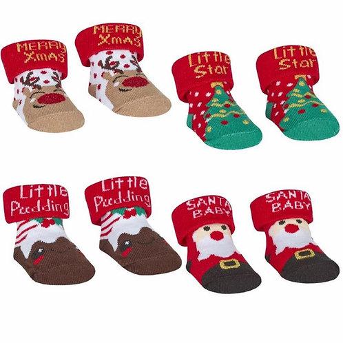 Christmas Socks In Voile Gift Bag