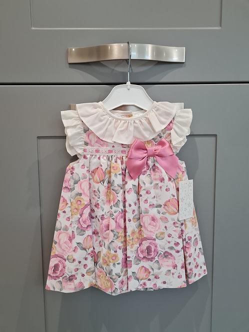 Bold Floral Ribbon Bow Dress
