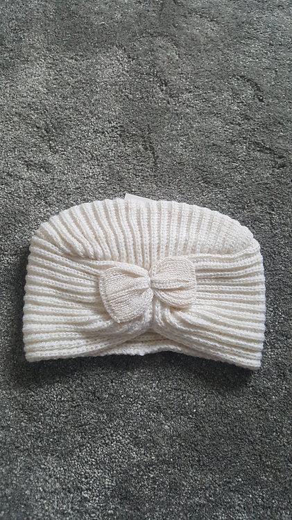 Cream Knitted Turban Hat