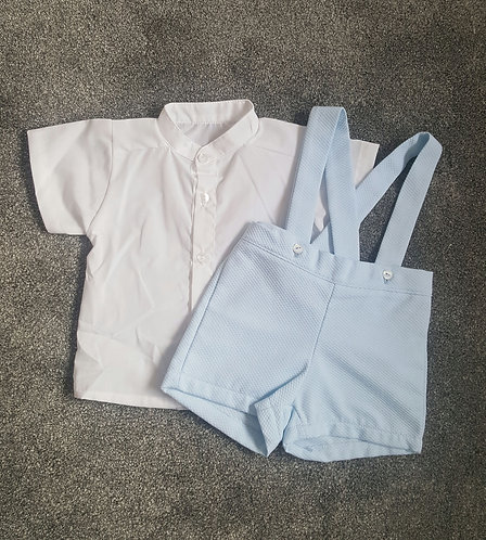 Smart Spanish Shirt & Dungaree Set