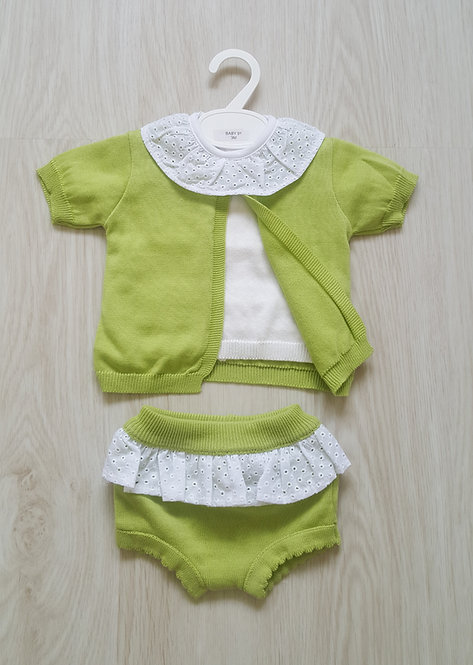Lime Green Frilly Bloomer Set