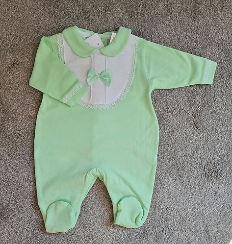 Lime Green Bow Sleepsuit