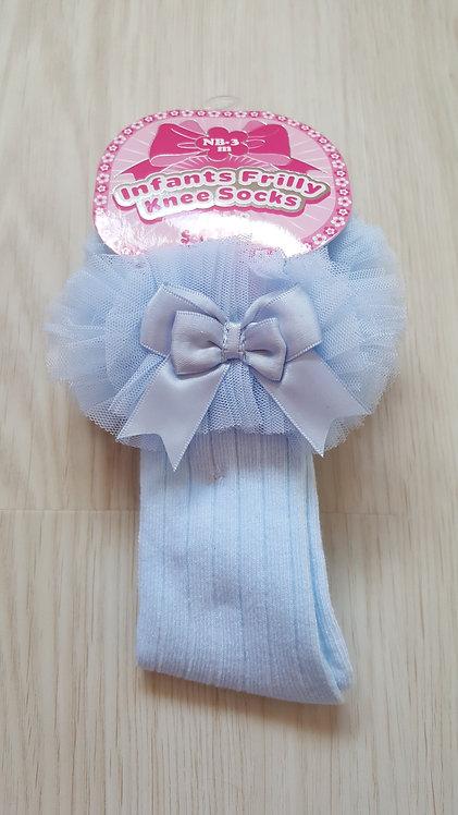 Lace Bow Tutu Knee Socks