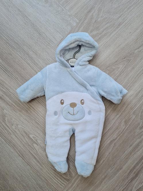 Super Soft Blue Teddy Bear Pramsuit