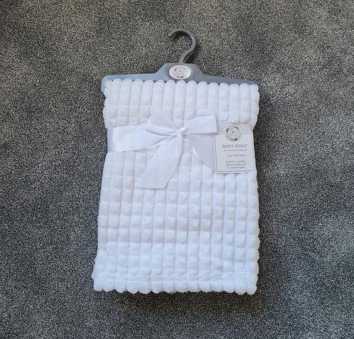 White Super Soft Jacquard Blanket