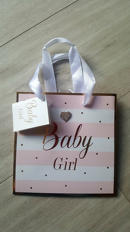 Diamante Heart Small Gift Bag