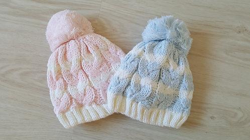 Cable Knit Pom Pom Hat