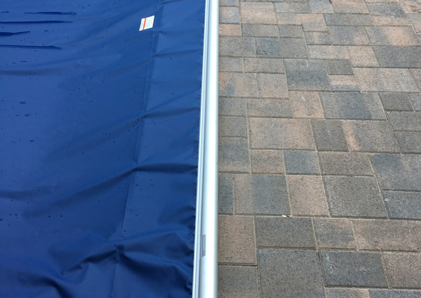 Deckmount safety cover system -Navy