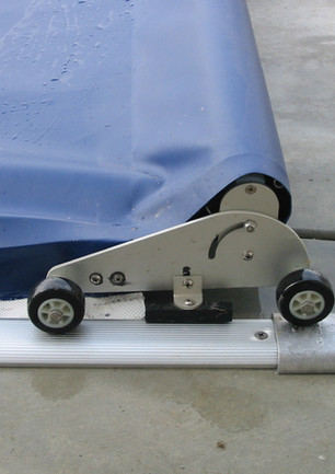 Deck mount wheel cart