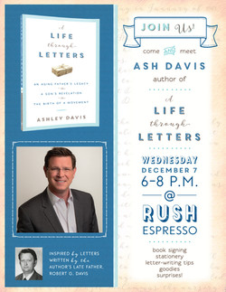 Ash Davis Book Signing Flyer