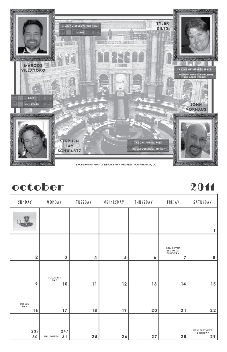 Men of Mystery calendar page