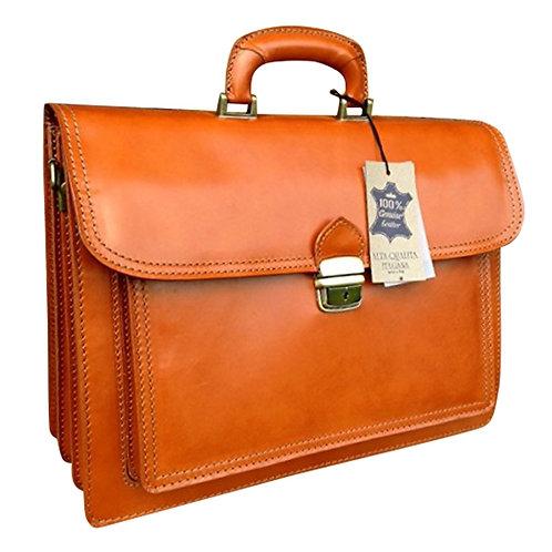 """16"""" Tan Libao Briefcase"""