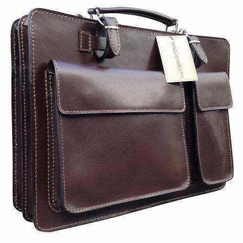 Cario Dark Brown Briefcase
