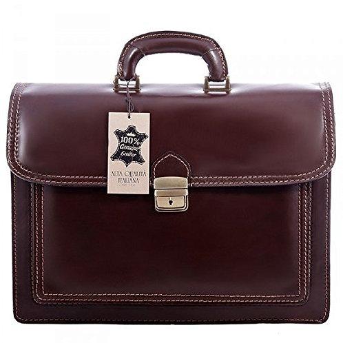 "16"" Dark Brown Libao Briefcase"