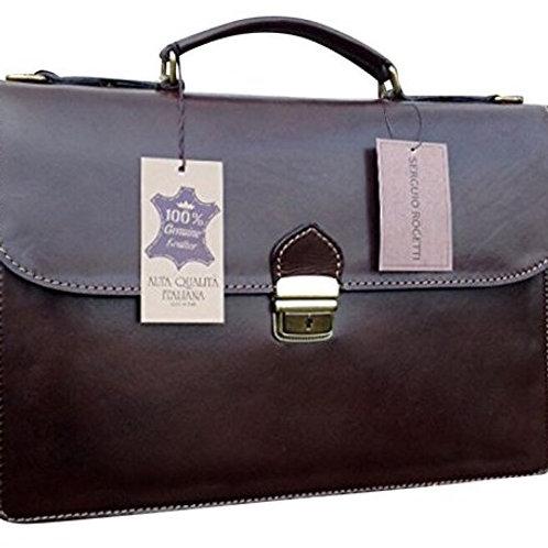 """15"""" Bilero Dark Brown Briefcase"""