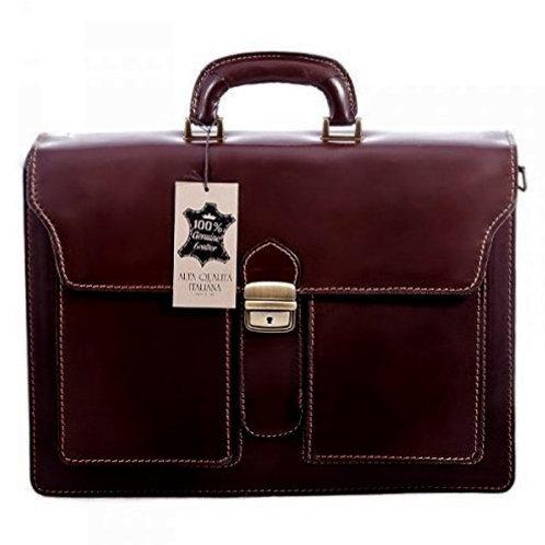 """16"""" Solumeno Dark Brown Briefcase"""