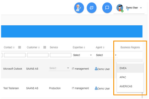 Custom field visible in the user interface