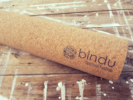 cork yoga mat sustainable ecological. bindu spiritual fashion