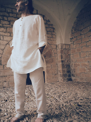 Druidae - man tunic bio linen handmade