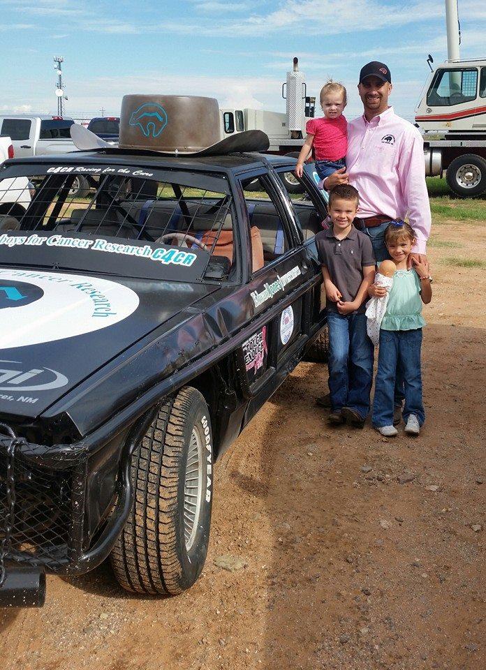 Bryan and Kids - Enduro Car at roping - Copy.jpg
