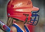 Mujer jugador de béisbol