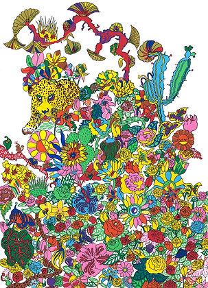 花のジャングル