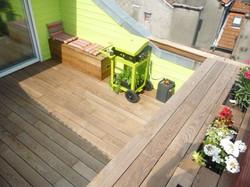 Terrasse en frêne thermo traité