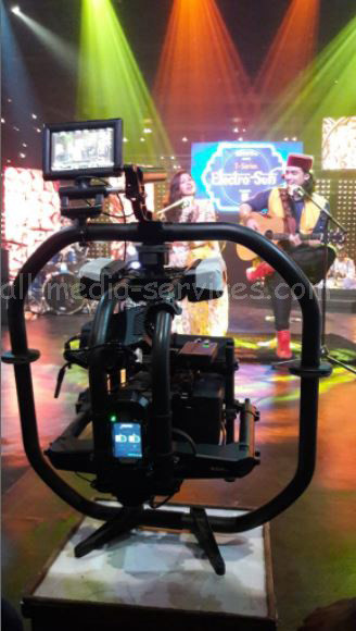 movi pro on the set of music video