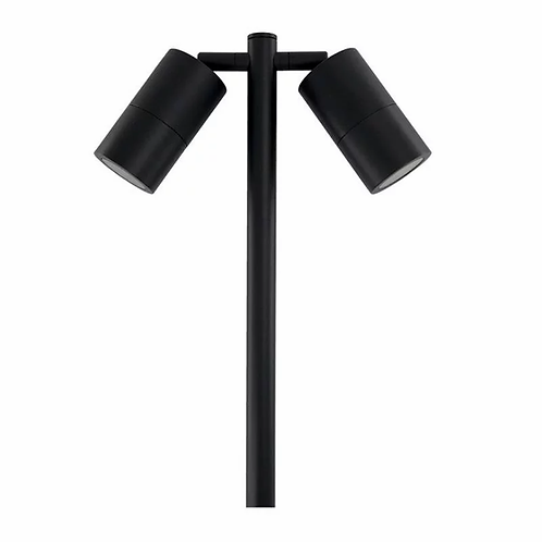 DOUBLE HEAD 1MTR GARDEN SPIKE LIGHT (3132-BK)