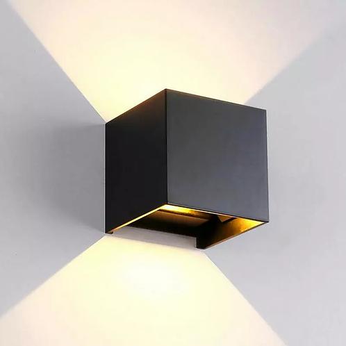 LED CUBE WALL LIGHT (259/BK/TC)