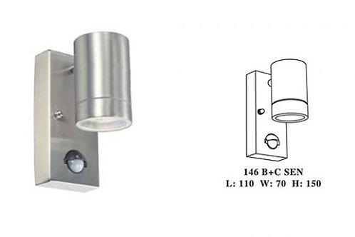 ROUND DOWN PILLAR LIGHT W/SENSOR (146B+C SEN)