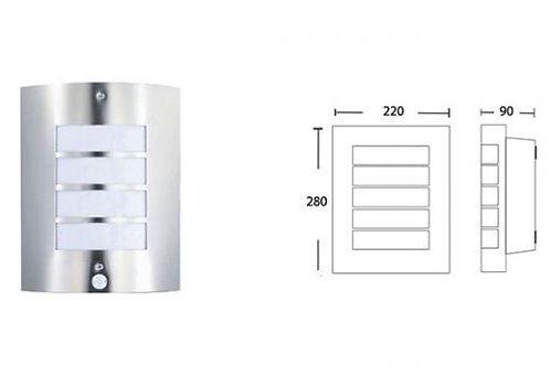 E27 WALL LIGHT W/SENSOR (SA 031/SS/SEN)