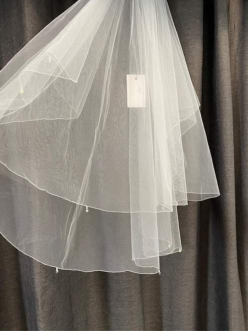 ERB5036 - 2 Tier Veil with Crystal Drops