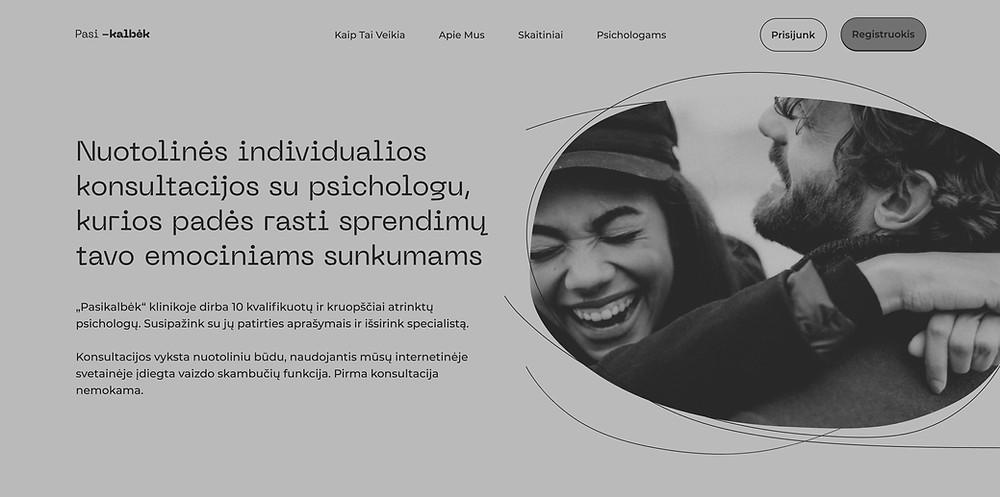 Pasikalbek.lt website